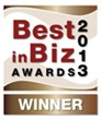 Best in Biz Awards 2013 bronze winner logo