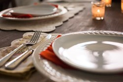 Photograph of plates on table