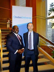 IndexUniverse CEO Jim Wiandt and Index Strategy Advisors CEO/CIO James McDonald Partnership Photo