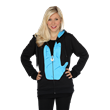 This Her Universe hoodie cleverly features the Star Trek Vulcan hand salute and is adorned with a zipper pull inspired by Spock's IDIC medallion. Live Long & Prosper!