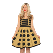 Exterminate the fashion world with this dangerously chic Doctor Who Dalek A-line dress from Her Universe! Who knew a Dalek could look so sexy? A classic dress for this classic villain!