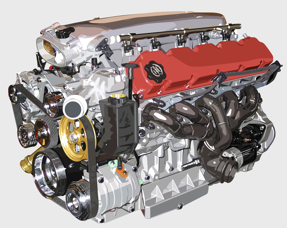 Dodge viper engine now for sale as used unit through for Used car motors for sale