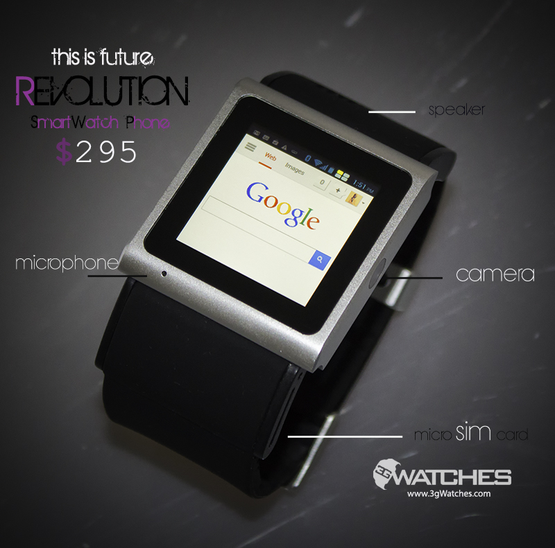 The Revolution Android 4 0 Smartwatch Phone Is The World S