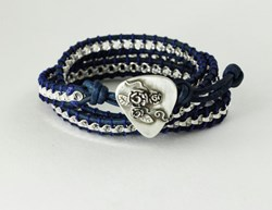 Rose Covered Guitar Pick Bracelet by Metalmorphis Jewelry