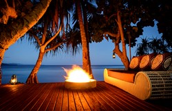 Oceanfront Firepit at The Remote Resort, Fiji Islands