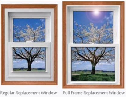 Window frames full frame replacement windows for Full window design