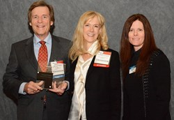 Omega3 Innovations' co-founders, Dr. Bo Martinsen and Dr. Anne-Marie Chalmers, with Karen Butler of SupplySide Omega-3 Insights