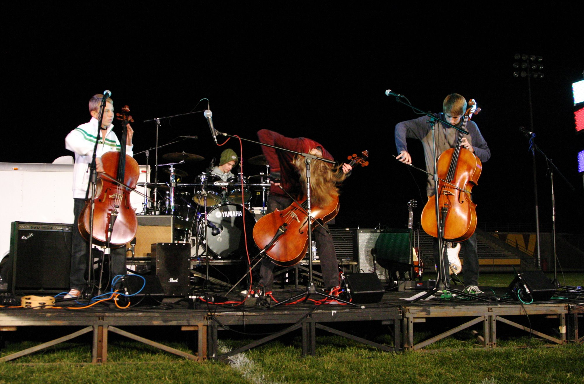 Teenagers of Synergy Cello Band Open for the Break of