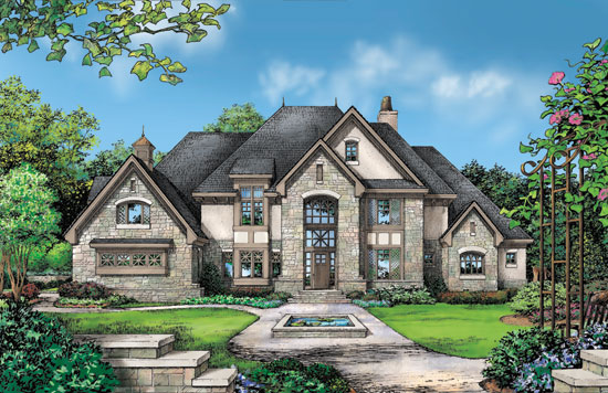 Stucco stone house plans house plans for Stucco home plans