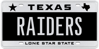 mascot auction gives fans in texas first chance select 7 letter plates available. Black Bedroom Furniture Sets. Home Design Ideas