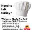 'ShopRite Chefs On Call' Provides Customers with a Stress-Free Thanksgiving