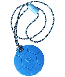 SentioCHEWS Blue Soccer Ball, chewable necklace.