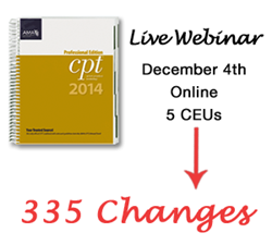 Live CPT® Changes Webinar on December 4th through MMI
