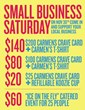 Small Business Saturday in store deals