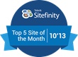 The new website for the Gordon and Betty Moore Foundation created by Project6 Design was honored with a Sitefinity Top-5 Websites of the Month award