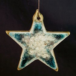 crushed glass ornament star