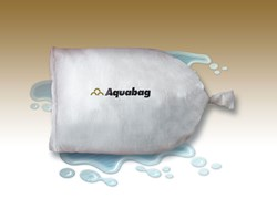 Aquabag fully inflated.