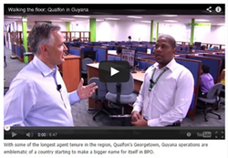 Nearshore Americas Video: Walking the Floor Qualfon Guyana