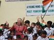 Anita Lerche with children in India