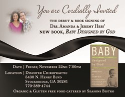 Baby Designed by God debut celebration Nov. 22, 7PM at Discover Chiropractic