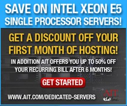 AIT Single Processor E5 Dedicated Server Promo