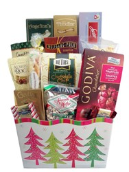Seasons greeting gift basket by Gift with a Basket