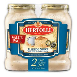 "Bertolli® team at Unilever Foods selected TFI Envision, Inc. to create the packaging graphics for their Alfredo Sauce ""Value Pack."""