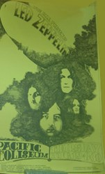 1971 Led Zeppelin Vancouver Pacific Coliseum Rock N Roll Show Poster