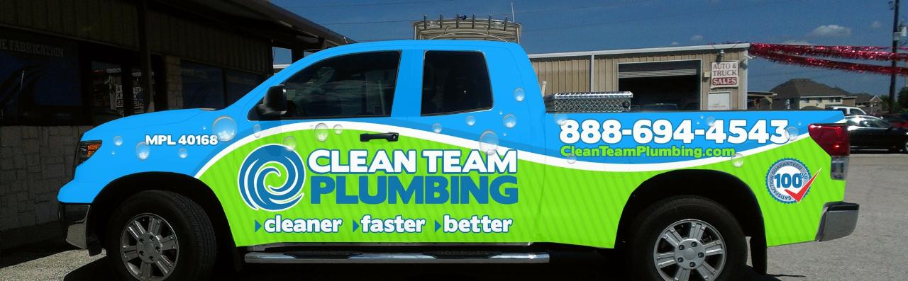 Houston re pipe experts at clean team plumbing are for Plumber 77080