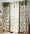 Special Floral Curtains in Country Style of Two Panels