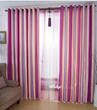Rainbow Style Polyester and Cotton Eco-friendly Curtains