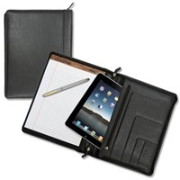 Deluxe Zippered Leather Portfolio