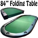 "Image of the 84"" Poker Table with 10 Cup Holders"