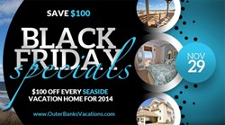 Seaside Vacations Black Friday Sale Outer Banks Rental Homes