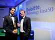 Co-founders Brett Harding and Laurence Holloway pick up the award