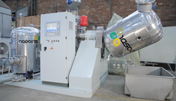 Small industrial ROTOSOL® unit with a capacity of about 200kg/h.