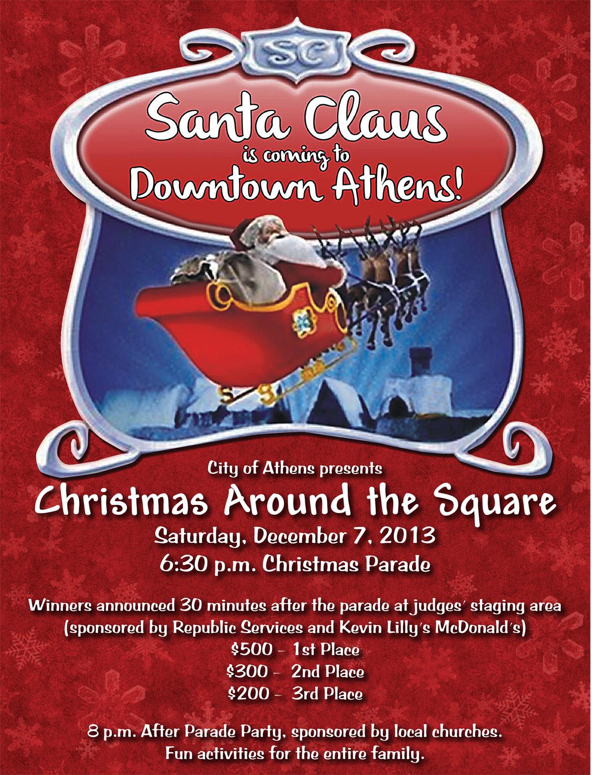 athens christmas parade slated for december 7