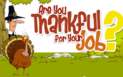 FindTheRightJob.com features new infographic documenting workers' thankfulness on the job.
