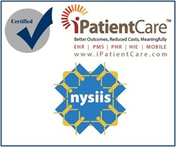 iPatientCare EHR Certified by NYSIIS