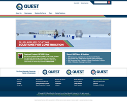 Quest Specialty Chemicals Web Site Screen Shot