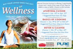 yoga nyc, pure yoga nyc, cooking classes, ayurveda cooking, natural gourmet institute, holiday yoga specials