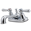 "pfister g148-5000 pfirst series lead free double handle 4"" centerset bathroom faucet with metal lever handles, 50/50 drain assembly and ceramic cartridges"