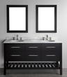 """60"""" Bosconi SB-250-5 Contemporary Double Bathroom Vanity"""