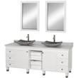 "Wyndham Collection WC-CG5000-72W - premiere 72"" double Bathroom Vanity set - white"