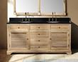 "James Martin Solid Wood 71"" Astrid Natural Oak Double Bathroom Vanity 238-101-5721"