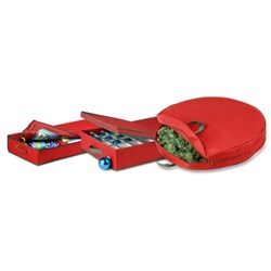 image of holiday decorations storage set from SpaceSavers.com