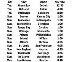 Week 13 Schedule
