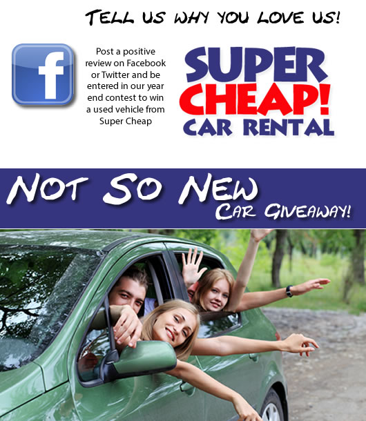 """Super Cheap Car Rental Announces Their """"Not So New"""" Car"""