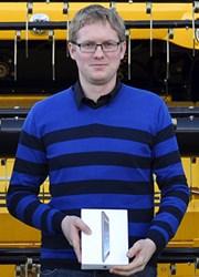 Pieterjan Platteeuw of CNH Belgium N.V., CD-adapco's 2014 Calendar Contest Winner