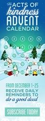 acts of kindness, advent calendar, Noomii.com